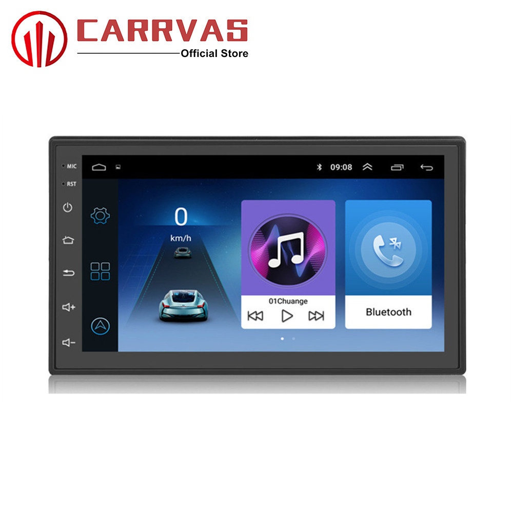 CARRVAS 2 din Android 8.1 GPS Navigator 7 inch Car Stereo 1G RAM 16G ROM 2 Din Quad Core Audio Radio Android Car Multimedia WIFI