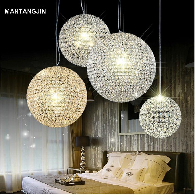 Lustre Rain Drop Pendant Light Lamp Modern K9 Crystal Ball