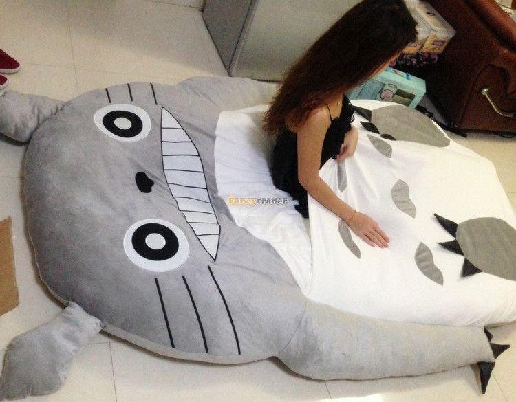 Fancytrader 190cm X 130cm Super Cute Huge Giant Totoro Bed Tatami Carpet Sofa Free Shipping FT90191 (13)