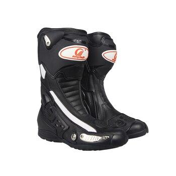 f29728f13db8d0 PRO-BIKER vitesse motards Moto bottes respirantes Moto course bottes  d'équitation Motocross cuir Moto bottes B1002