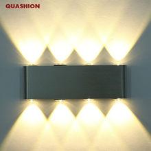 Wall Sconces Light-Fixture Spot-Light LED Led-Up-Down Aluminum Modern 8 8W Rectangle