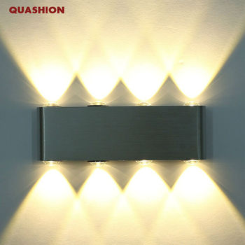 цены Modern Rectangle LED 8W Wall Sconces Light Fixture Aluminum High Power 8 LED Up Down Wall Lamp Spot Light Sconce Lighting