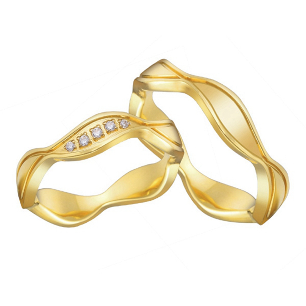 alliances Titanium steel jewelry shop vintage engagement wedding rings for women