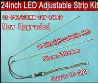 50 STÜCKE 23,6 530mm 50 STÜCKE 540mm 24 einstellbare helligkeit led-backlight streifen kit, Update zoll LCD ccfl LED-backlight