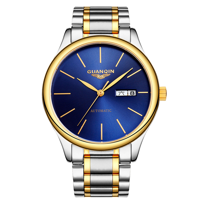 GUANQIN GJ16051 watches men luxury brand Business Automatic Men Watch Stainless Steel Male Clock Mechanical Wristwatches bosck brand gold luxury men mechanical automatic watch male clock self wind men watches calendar stainless steel wristwatches
