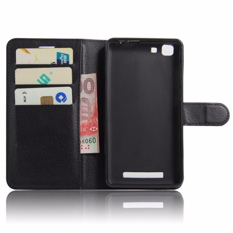 For Cubot Rainbow Case Luxury Wallet PU Leather Back Cover Case For Cubot Rainbow Case 5.0 Flip Protective Phone Bag Skin Stand (4)