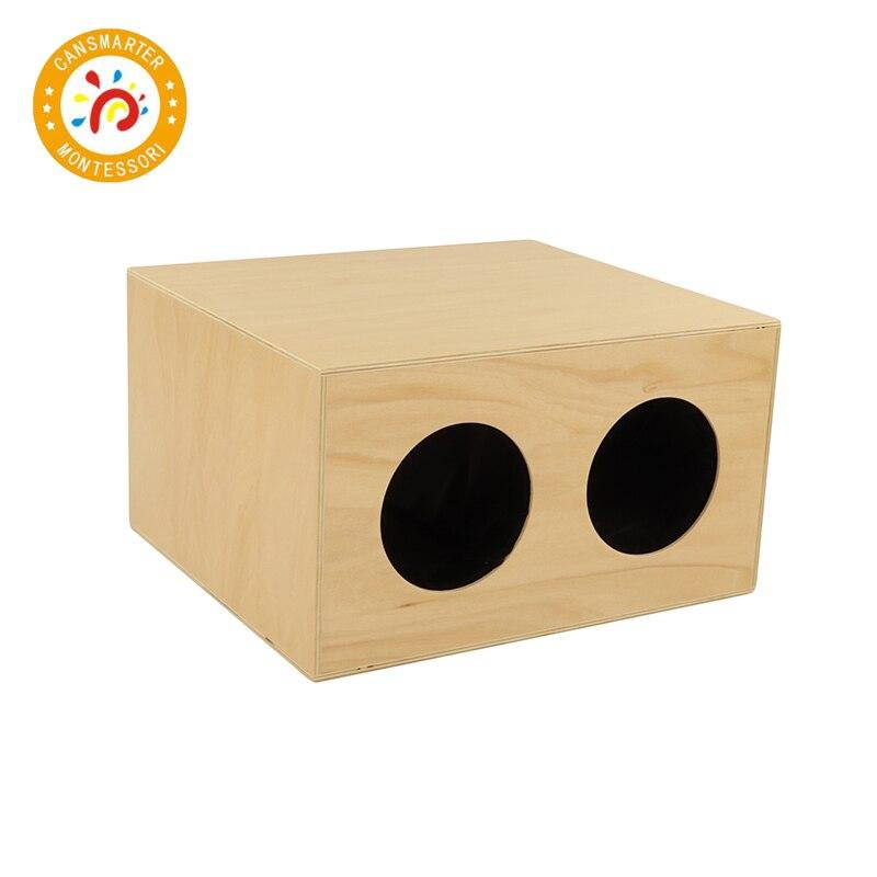 Bébé jouet Montessori matériel boîte mystère de haute qualité en bois aides pédagogiques enfants sensoriels toucher la balle