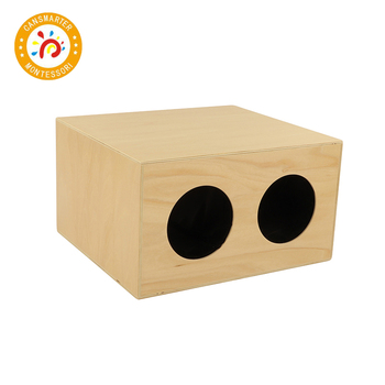 Baby Toy Montessori Material Mystery Box High Quality Wooden Teaching Aids Children Sensory Touch the Ball