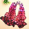 2015 Novedad Dots Imprimir Bufanda de Invierno Largo Bufandas Desigual Descuentos Canadá WJ002 Chales Para Mujer Bufandas de La Joyería del Regalo Para Los Amigos