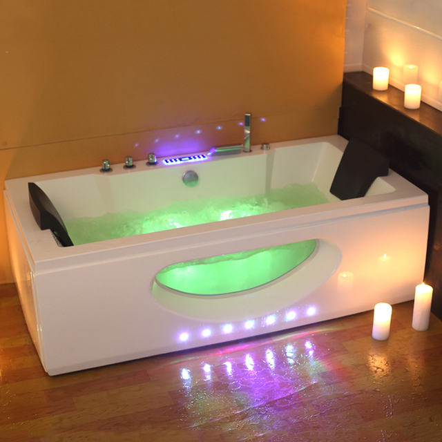6132M 1700mm Whirlpool Bath tub Shower spa freestanding Air Massage ...