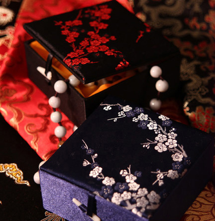New Arrivals Top Quality Satin Chinese Jewelry Bracelt Watch Box Arts Crafts Gift Boxes  ...