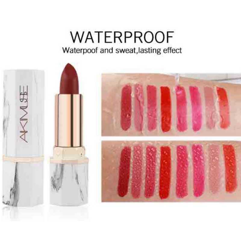 White Jade Marble ลิปสติกสำหรับ Res แต่งหน้ายี่ห้อกันน้ำติดทนนาน Velvet Matte Lip Sticks ชุด!