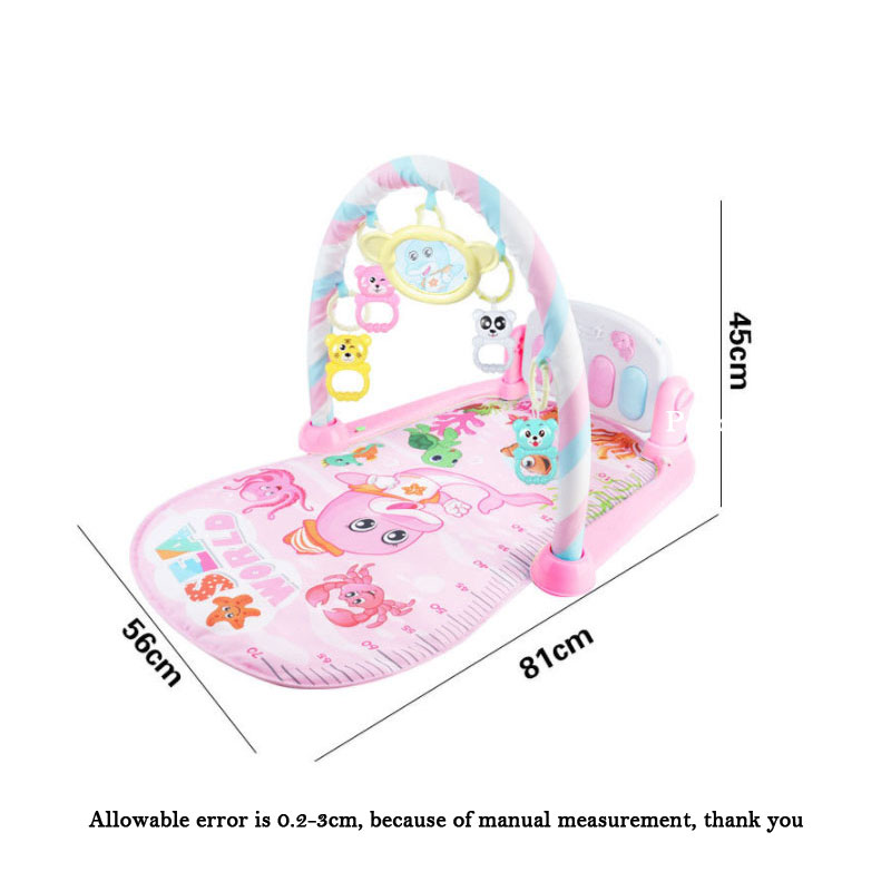 HTB1sr4PeoGF3KVjSZFmq6zqPXXaK Baby Rocker Piano Music Carpet Newborn Fitness Bodybuilding Frame Pedal Rocking Chair Activity Play Education Toy
