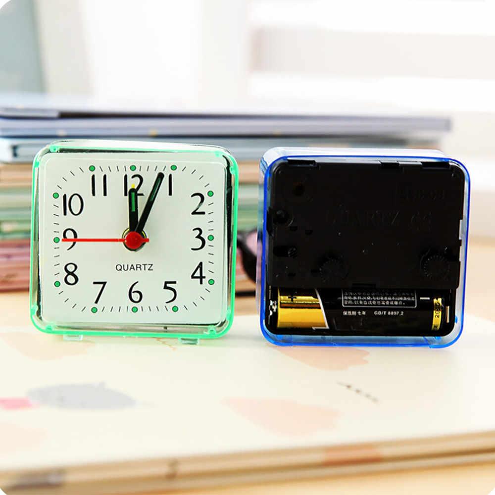 Квадратные маленькие кровати будильник прозрачный корпус Компактный цифровой Будильник Мини Дети Студенческие настольные часы Портативный @ A