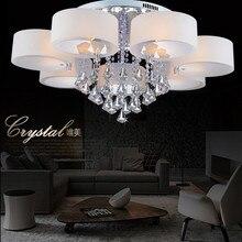 Кристалл современный лаконичный потолок лёгкие гостиная спальня лампа освещение