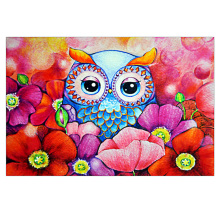 DIY diamond painting animal Cartoon owl flower diamond embroidery flower owl face diamond Mosaic cartoon Owl face home decor bowknot owl print draw diamond drawing