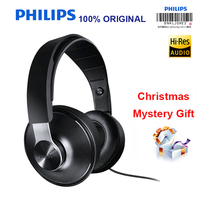 Philips SHP8000 Headphones HIFI Earphone Long Wires Volume Control Microphone Headset For MP3 Music Phone