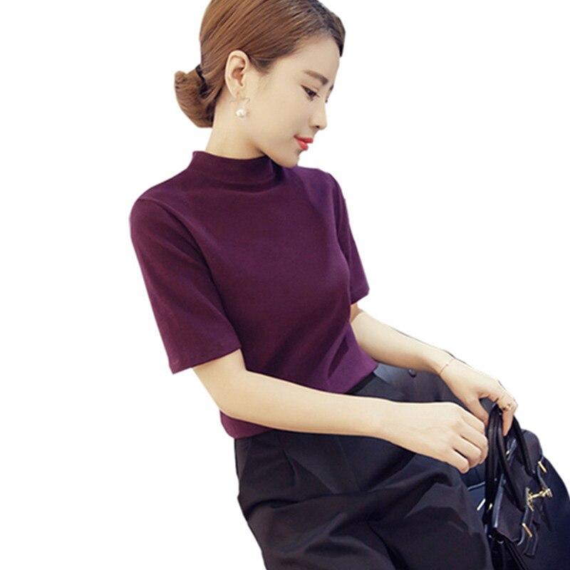 Streetwear knitting pullover t shirts women shirt short sleeve women tops plus size korean style women tee shirt womens clothing ...