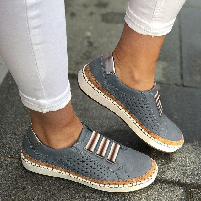 Puimentiua 2019 Breathable Spring Women Shoes White Women Casual Shoes Fashion Mesh Women Sneakers Flats Platform Lace-up Summer 3