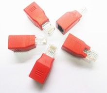 1:1 RJ45 CAT5 CAT5E Network Ethernet Connector male to female Cable Adapter New hight quanlity adaptor