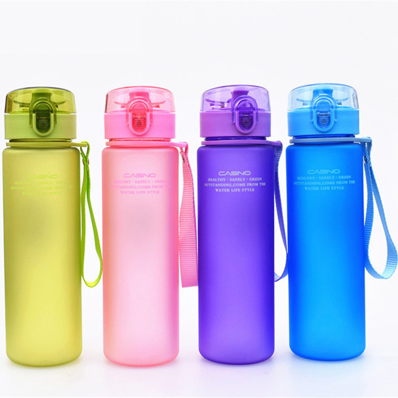Brand BPA Free Leak Proof Sports Water Bottle High Quality Tour Hiking Portable My Favorite Drink Bottles 400ml 560ml LJ140