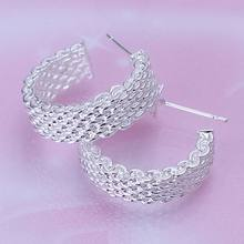 Wholesale silver plated Earring,925 Jewelry silver earring,Weaved Web Earrings SMTE082(China)