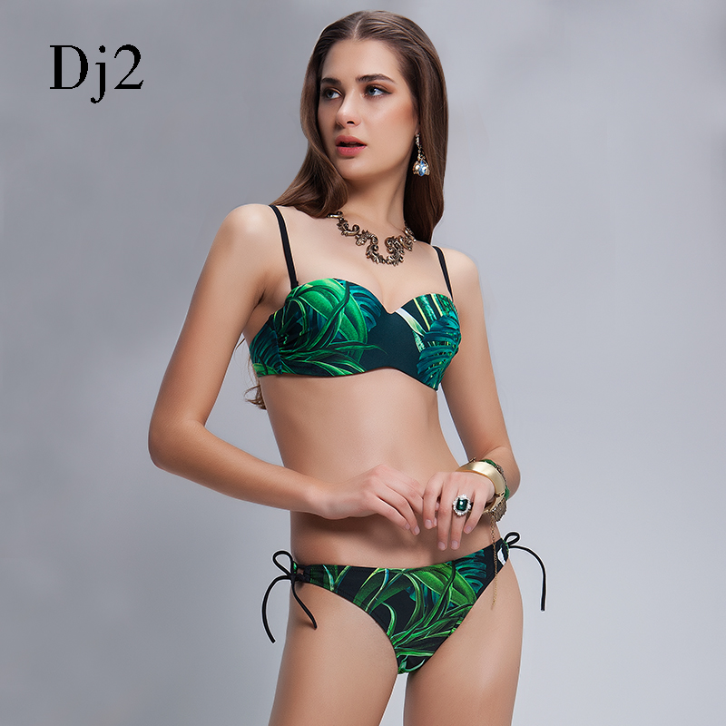 Merk 2017 sexy bandage bikini set vrouwen bikinis badpak hoge taille - Sportkleding en accessoires - Foto 4