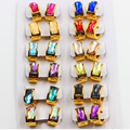 12 Pairs/Set Luxury gold plated stainless steel hoop earring for women or women Sale with set