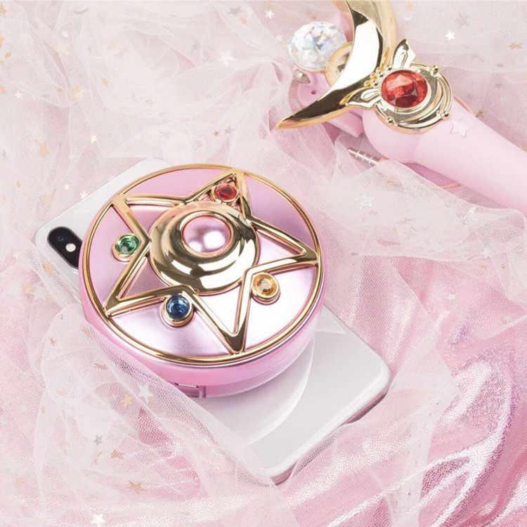 В наличии аниме Сейлор Мун Кристалл Лунный свет медальон-звезда чехол для аккумулятора портативный зарядное устройство косметическое зеркало свет подарок косплэй