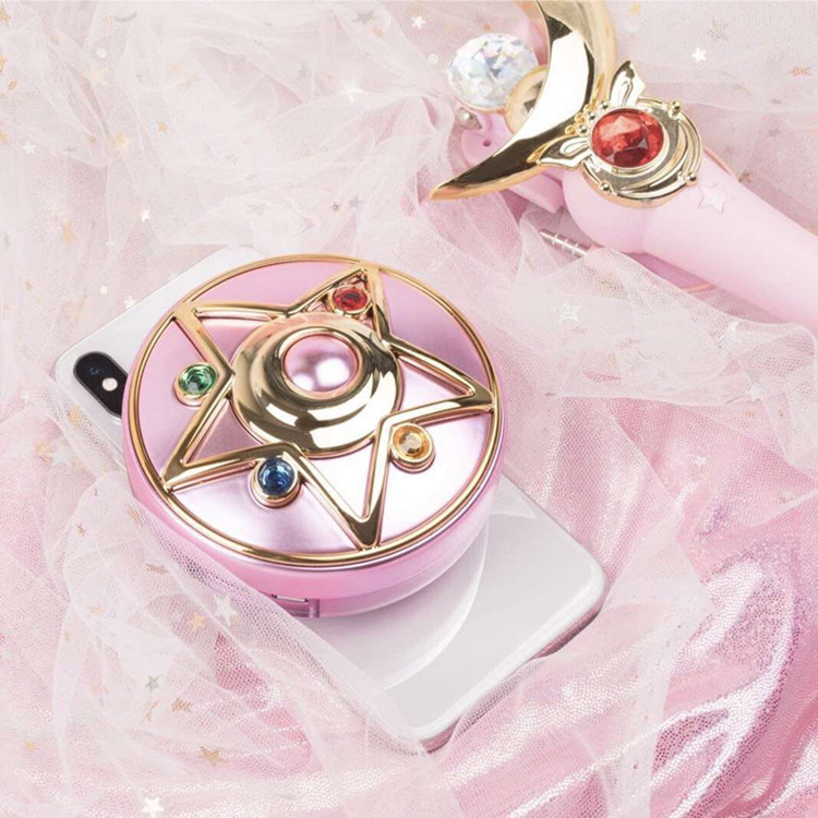 In Stock Anime Sailor Moon Crystal Moonlight Star Locket Compact Power Bank Portable Charger Cosmetic Mirror Light Gift Cosplay-in Costume Props from Novelty & Special Use    3