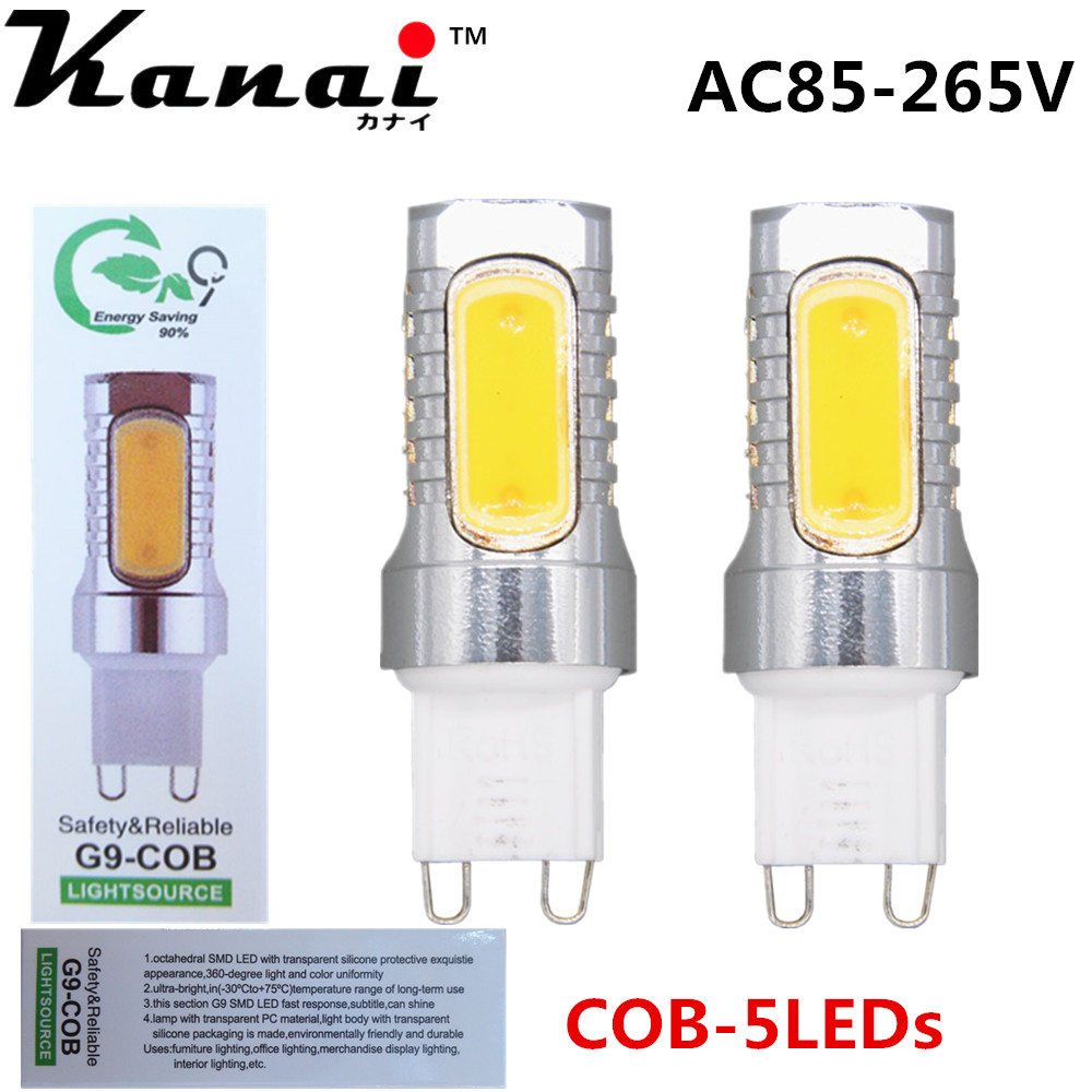 2pcs Mini G9 G4 Dimmable Lampada LED Light 5W COB Crystal Corn Bulb Lamp Energy Saving 110V 220V 12V Candle Luz Chandelier mini led lampada dimmable g9 e14 cob 9w led lights silicone crystal lamps ac220v chandelier crystal light warm cool white bulbs