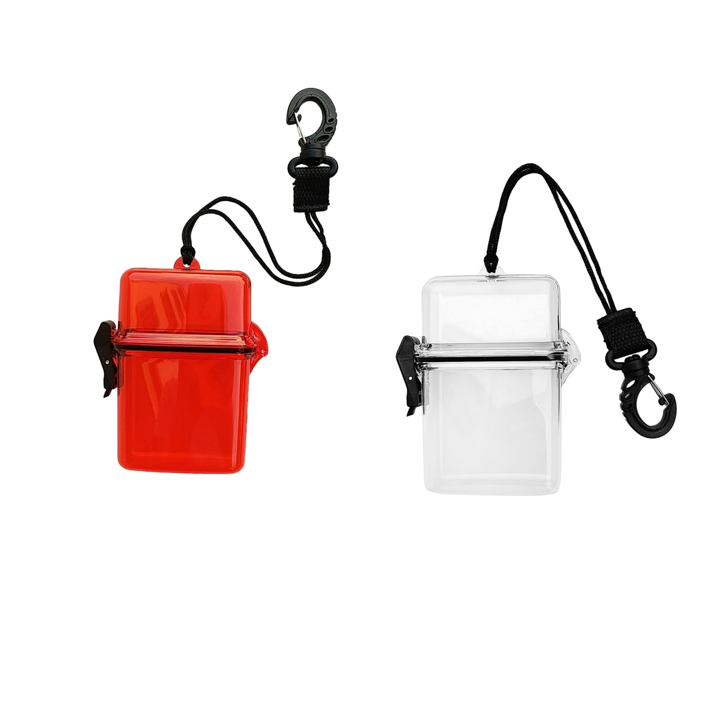 Scuba Diving Kayaking Waterproof Dry Box Container Storage Holder Case & Lanyard Swivel Snap Clip For Snorkeling Surfing