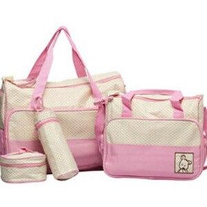 Image 5 - 5PCS/Set Large Diaper Bag baby Diaper Bags Durable Multifunctional Big Capacity Nappy Kids Bags Waterproof Tote Bags T0036