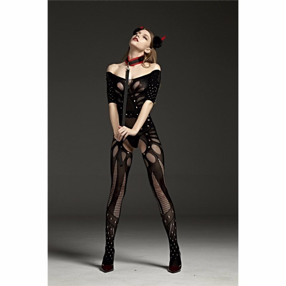 Hot Sexy Bodystockings Black Sex Nightwear Fashion Underwear Sleepwear Intimates Kimono Sex Products Crotchless Teddies