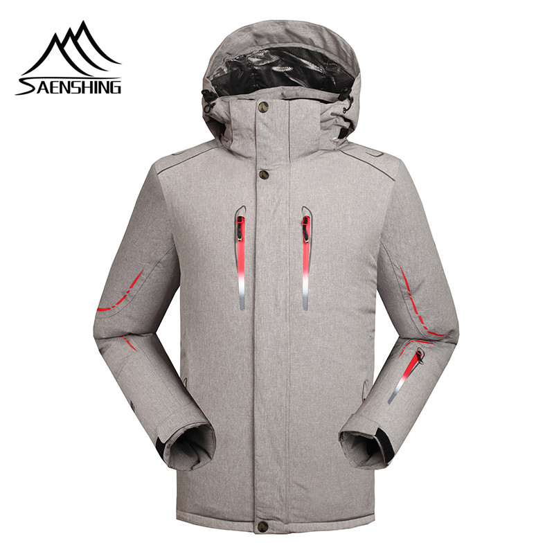 Saenshing -30 Degree warm winter ski jacket men Waterproof 10000 windproof snowboard snow jacket outdoor skiing ski clothing vector warm winter ski jacket girls windproof waterproof children skiing snowboard jackets outdoor child snow coats kids