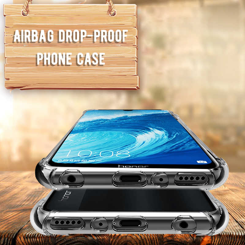Shockproof TPU Case for Huawei Honor 10 9 8 lite 8X Max 10 8X 8C Note 10 P30 Mate 20 Lite Mate 10 Pro Airbag Silicone Cover