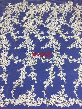 Wholesale African Net Lace Newest French Tulle Lace Fabric SYJ-5820 Embroidered Guipure lace