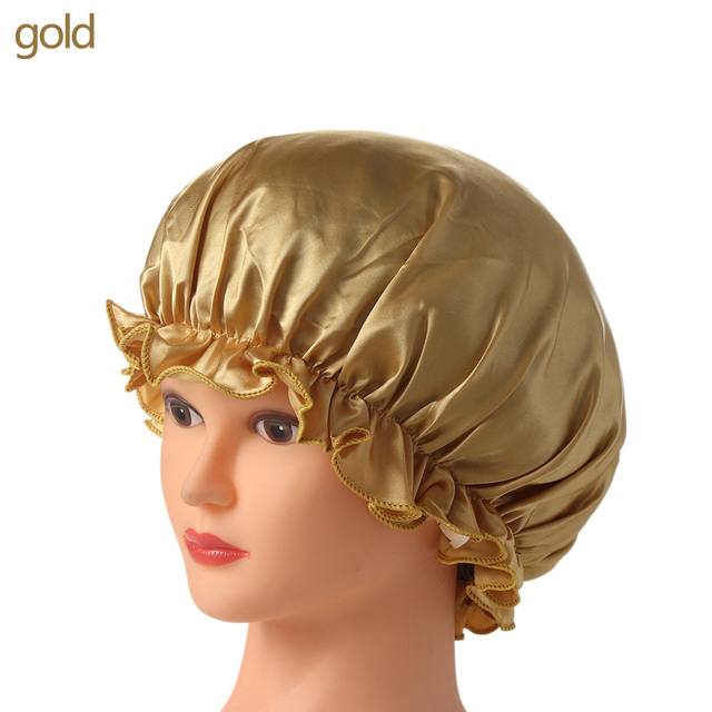 2018 Neweat Women Fahion Night Sleep Hat Wide Band Hair Loss Chemo Hat Comfortable Satin Bonnet Ladies Turban Caps