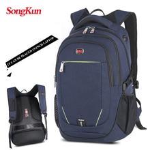 Songkun 2017 Men's Backpacks Unisex Multipurpose Women Backpack School Bags for 15.6 Laptop Notebook Waterproof Mochila Feminina