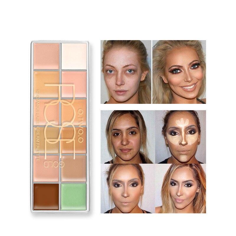12 Colors Concealer Contour Palette Primer Full Cover Concealer Face Corrector Long Lasting Contouring Makeup Face Palette