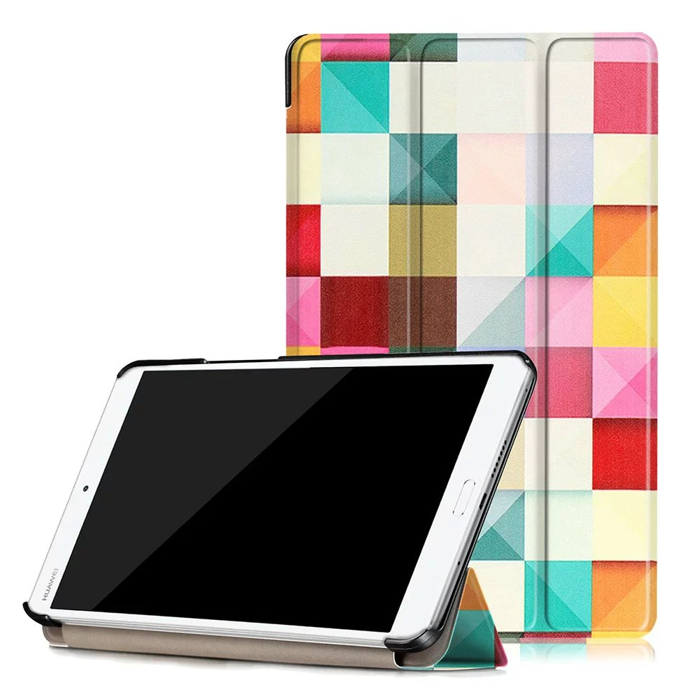 NEWCOOL Magnetic Smart Flip Cover PU Leather Case For Huawei MediaPad M3 8.4 BTV-W09 BTV-DL09 Tablet Case Protective shell nice soft silicone back magnetic smart pu leather case for apple 2017 ipad air 1 cover new slim thin flip tpu protective case