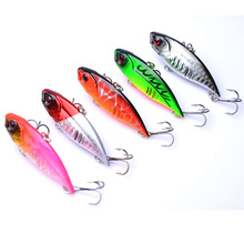 YUZI 5PCS 11G Hard VIB Lures 6.5CM Fishing Bait Treble Hooks Sinking Crankbait Tackle