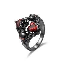 2019 jingyang Charm Gothic Zwarte Goud Classic Party Wedding Vriendschap Meisjes Ring rings for women