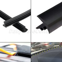 1.6m Noise Insulation Windshield Seal Strip Dustproof Soundproof Rubber Sealing Strips Trim For Car Dashboard Windshield Edges