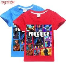 c15be930 Fortnite 100% cotton summer boy kids t shirt game design escape legend  printing kids clothes children t shirt girl tees clothing