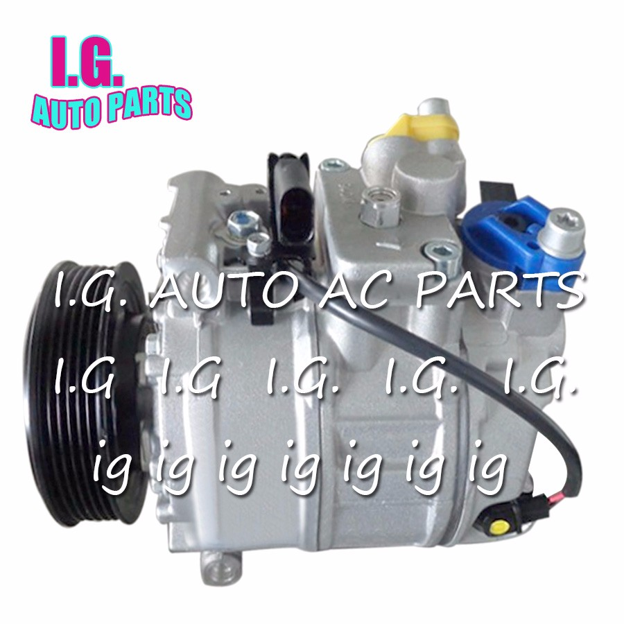 2 AC Compressor for Car Volkswagen Transporter 2.0 2009-2015 7E0820803 7E0820803F 7E0 820 803 7E0 820 803 F