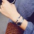Anillo de Metal + pulsera de cuerda Joker pulsera de mano muñeca de moda pequeños círculos actúan el papel de la calidad de la fema redonda contraída