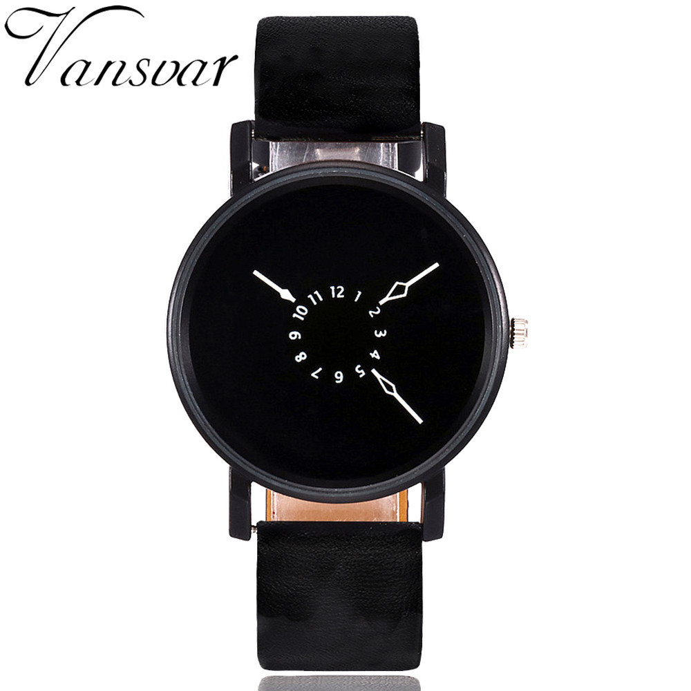 Vansvar Fashionable Creative Quartz Watch Womens Band New Wrist Watch with Leather Strap Analog Wrist Watch Gift Dames #5/22Vansvar Fashionable Creative Quartz Watch Womens Band New Wrist Watch with Leather Strap Analog Wrist Watch Gift Dames #5/22