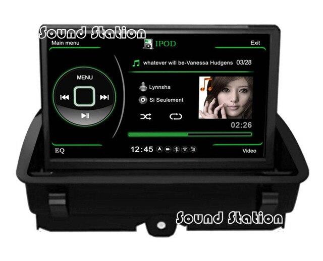 For Audi Q3 2011 2012 2013 2014 Car DVD Navigation Multimedia Bluetooth MP3 CD AM FM USB SD 3G WIFI AuxIn IPod DVR Rearview