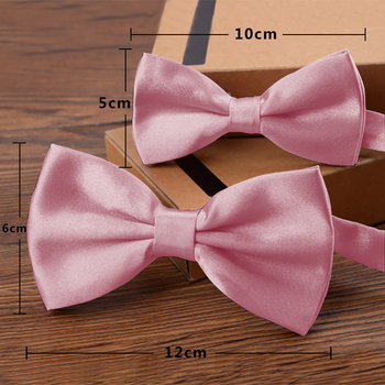 2pcs Pink Color Father and Son With Men's Bow Tie Classic Kids Bowtie For Men Boys Bow Ties Bowknot Bow Tie Party TZQZa0008